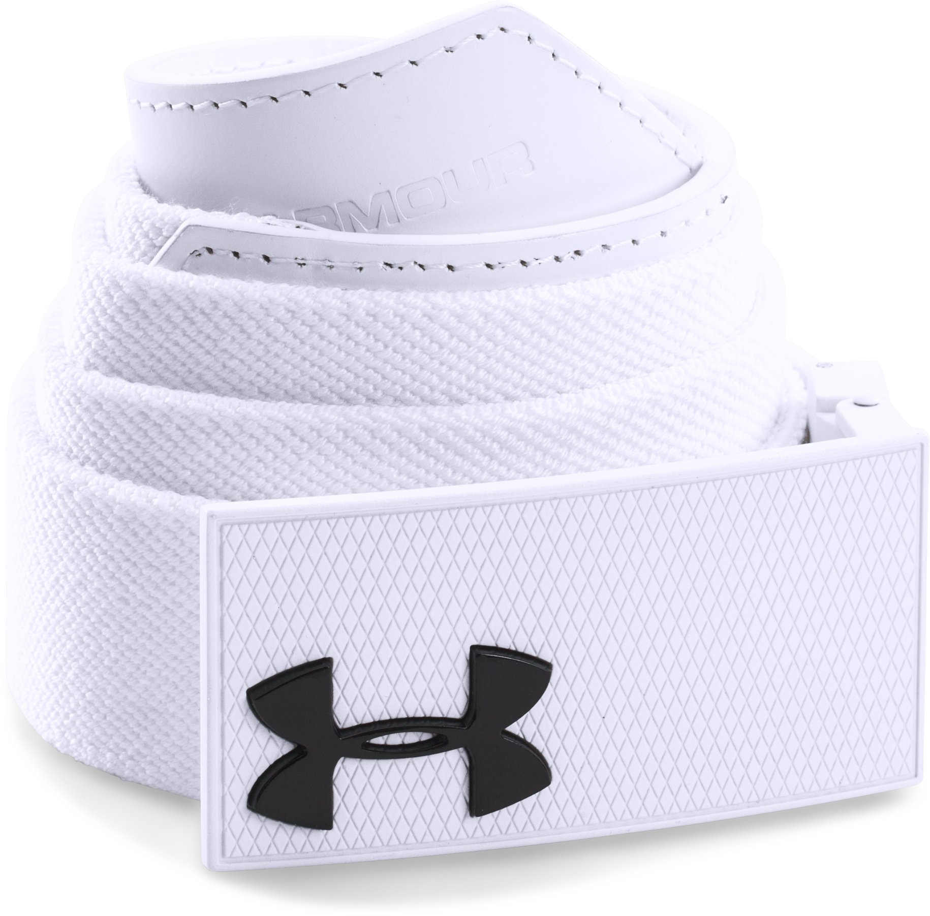 Men's UA Performance Belt, White, zoomed image
