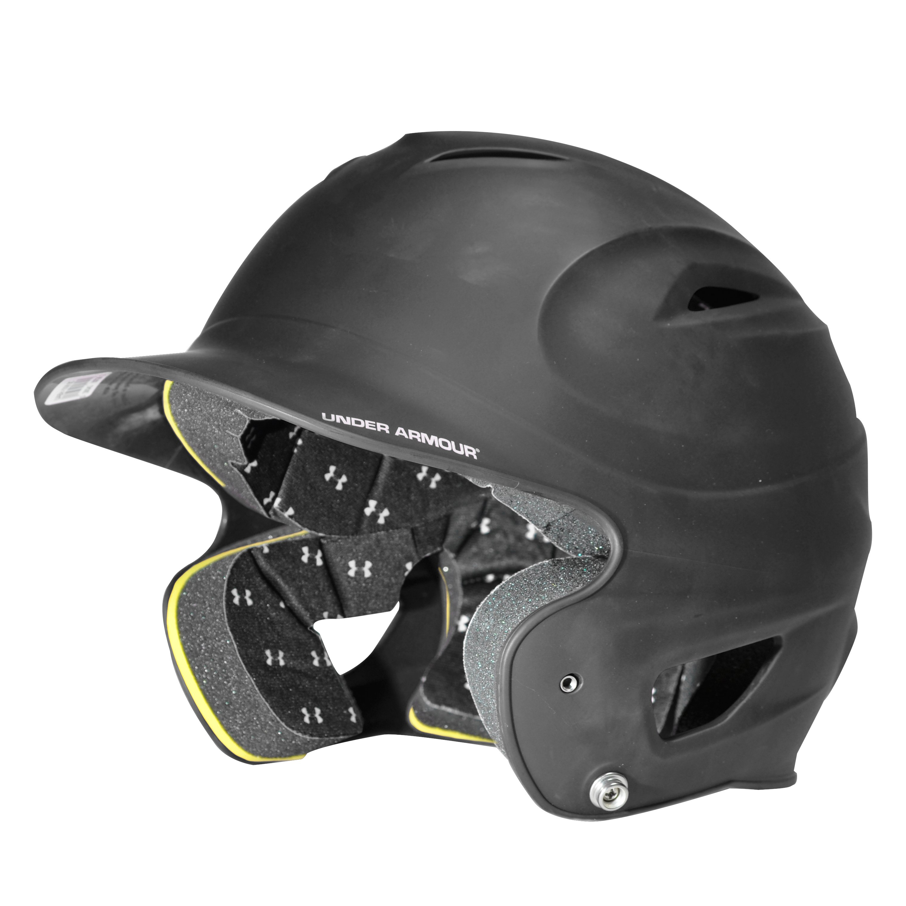 UA Matte Painted Batting Helmet, Black