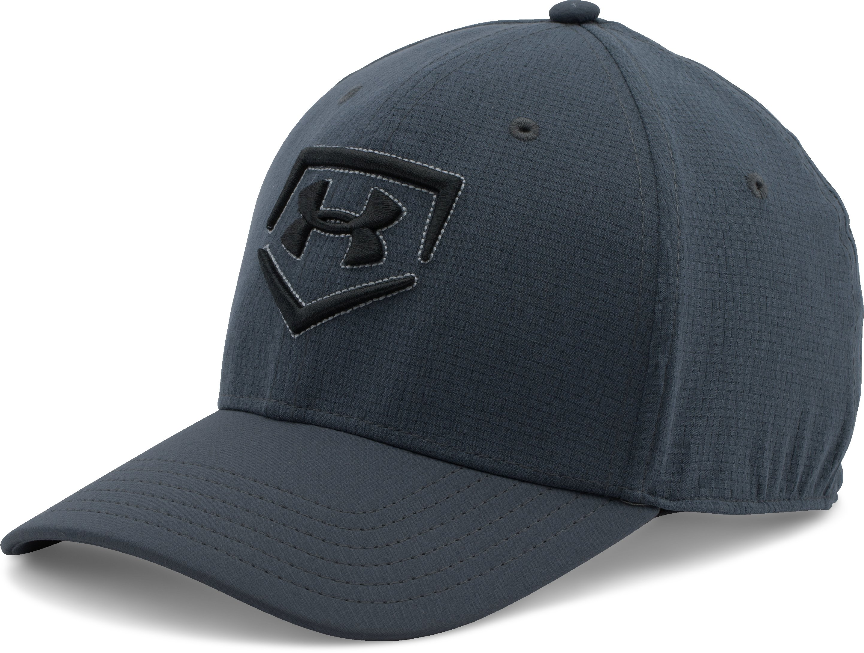 Men's UA Undeniable Baseball Cap, STEALTH GRAY, zoomed image