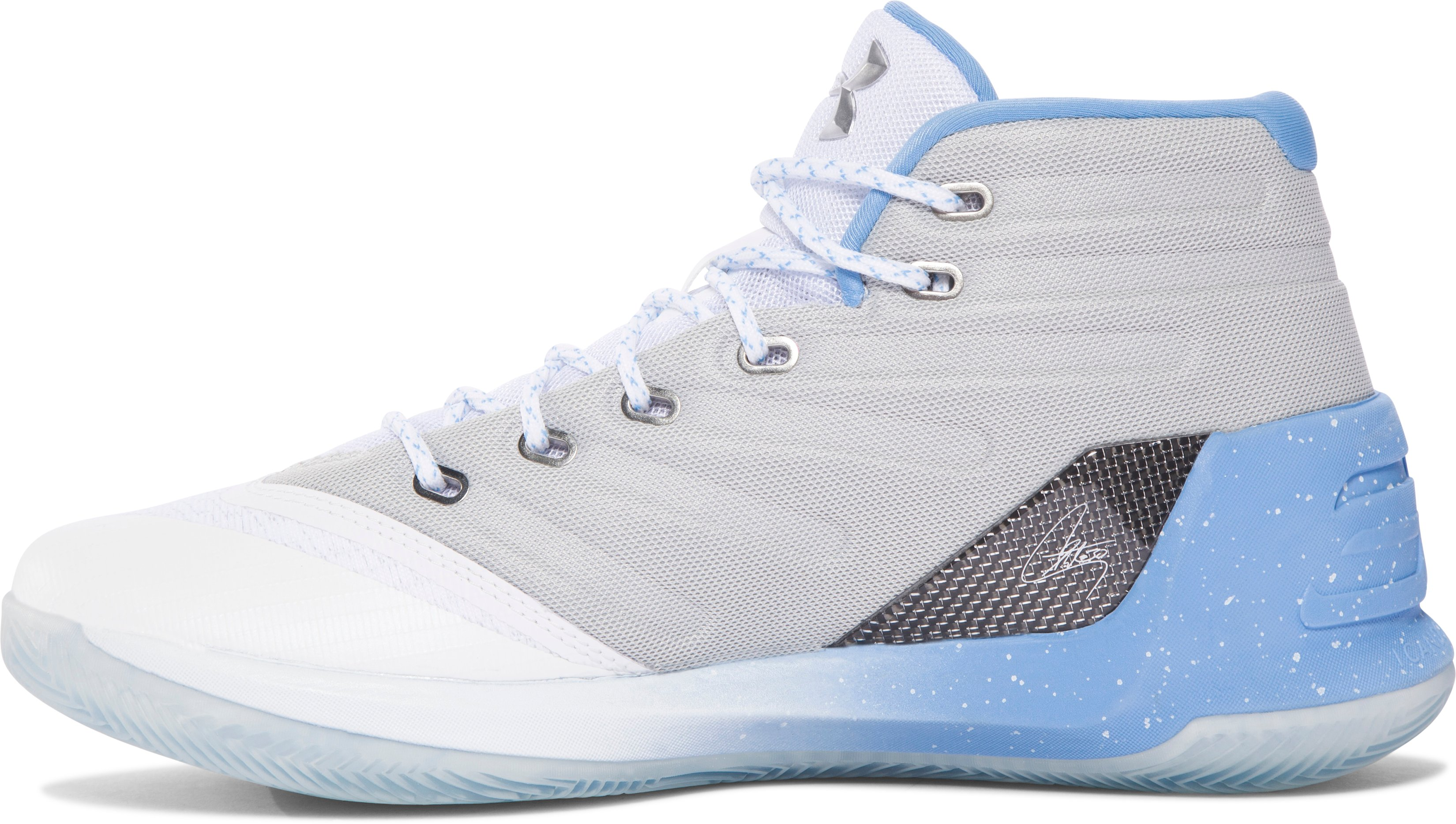 Men's UA Curry 3 Basketball Shoes, White, undefined