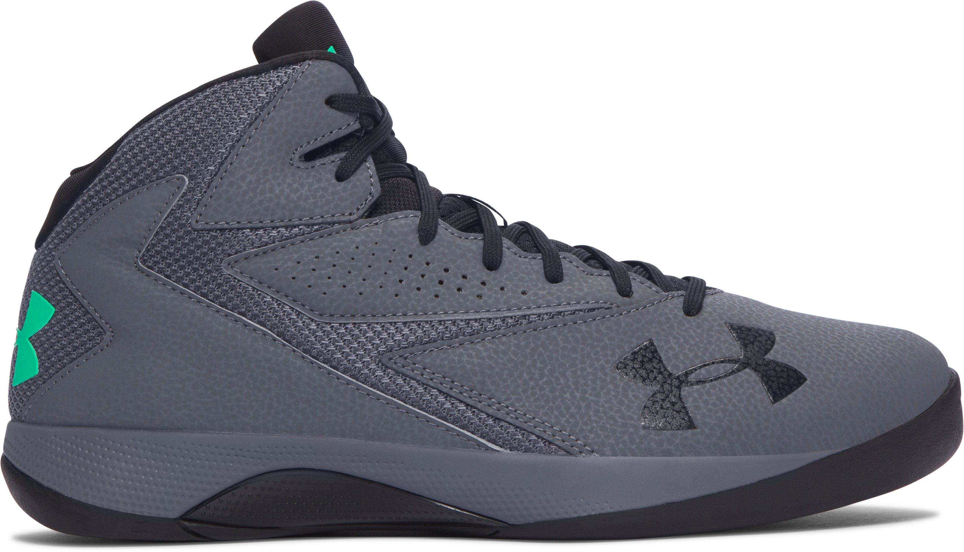 Men's UA Lockdown Basketball Shoes, RHINO GRAY, zoomed image