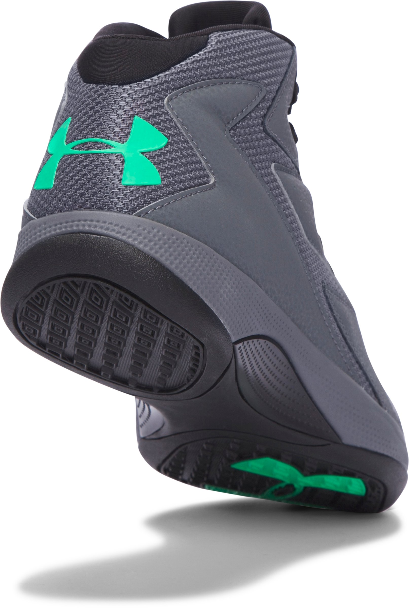 Men's UA Lockdown Basketball Shoes, RHINO GRAY