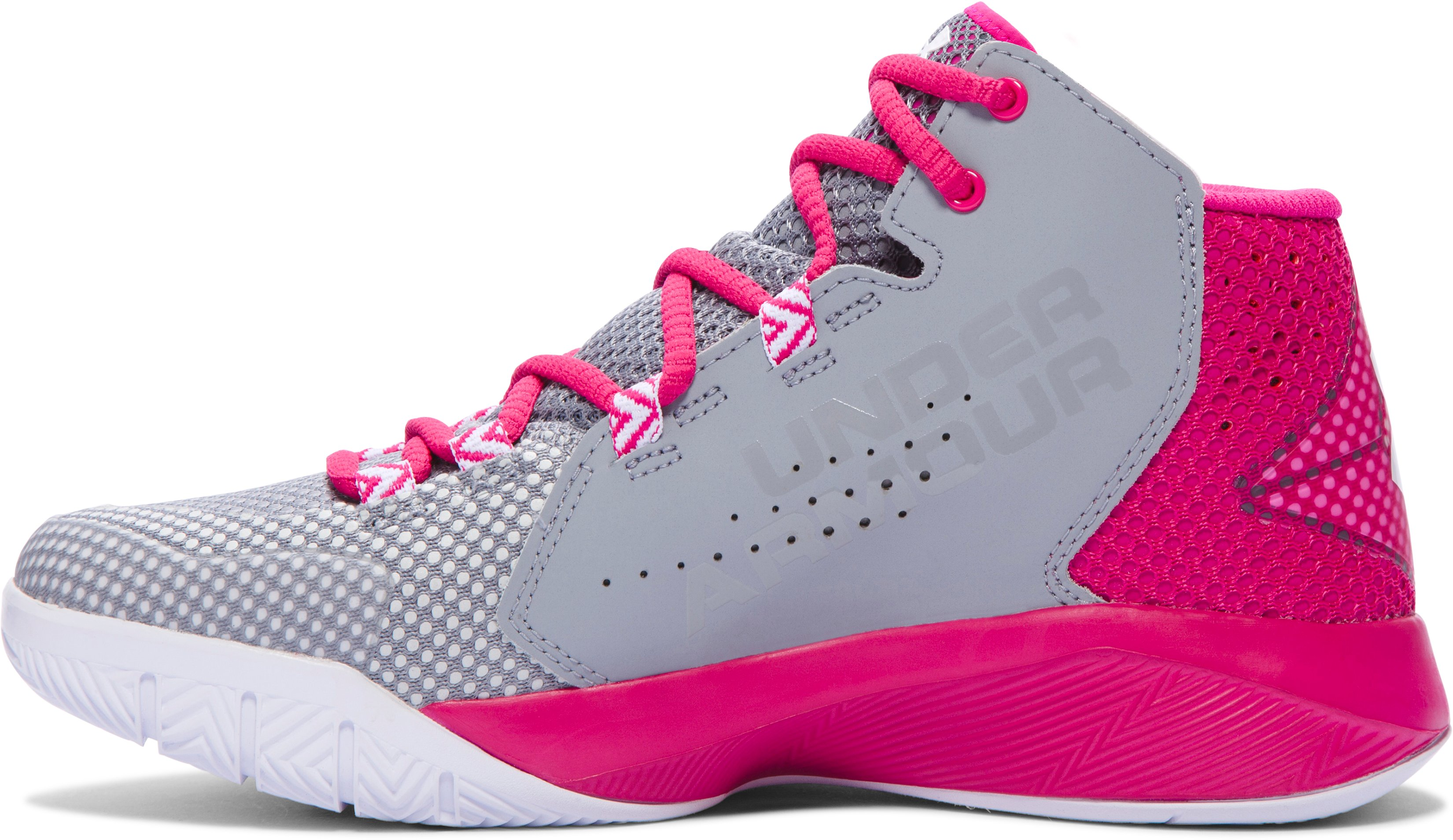 Women's UA Torch Fade Basketball Shoes, Steel,