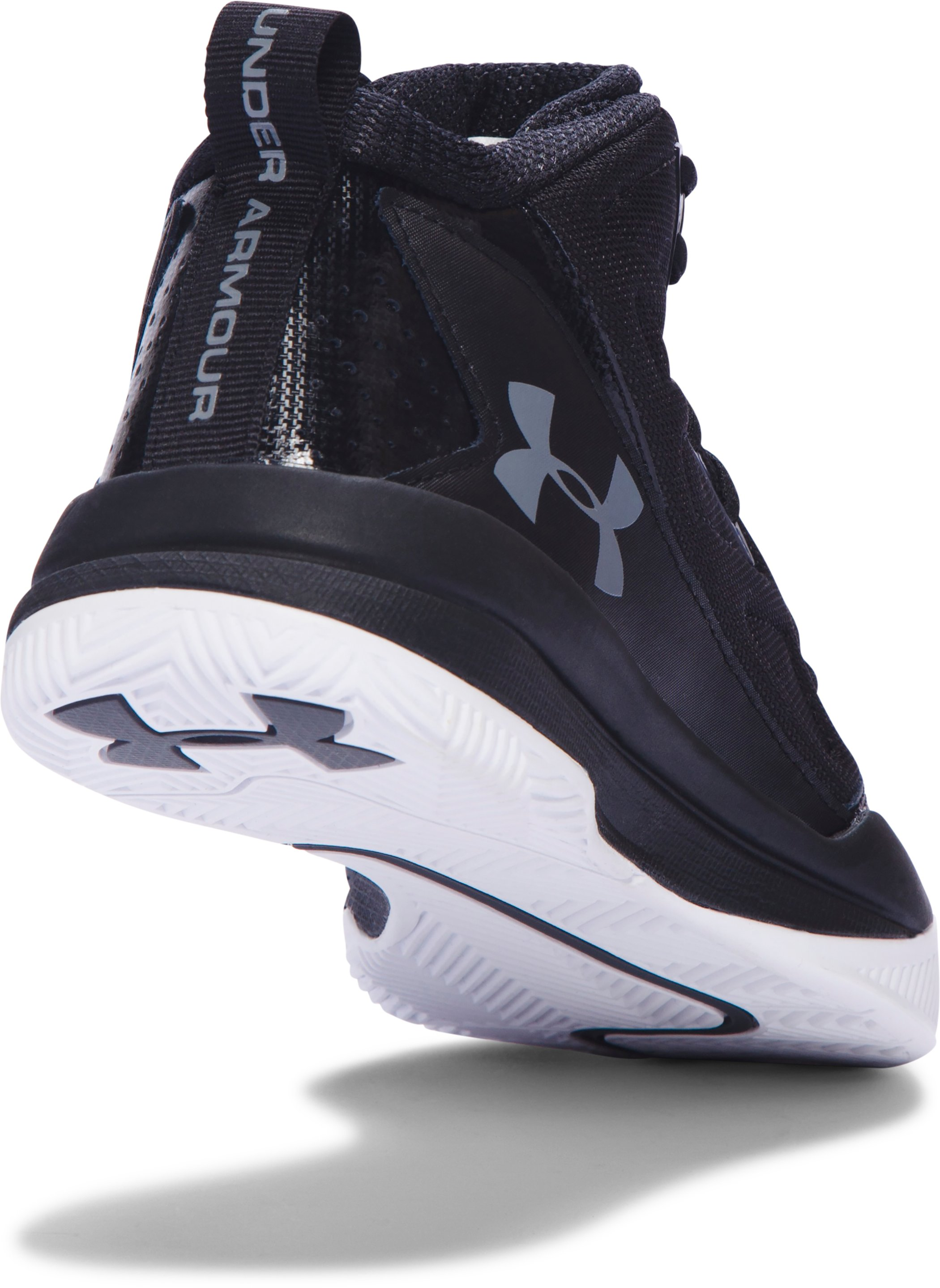 Women's UA Jet Mid Basketball Shoes, Black ,