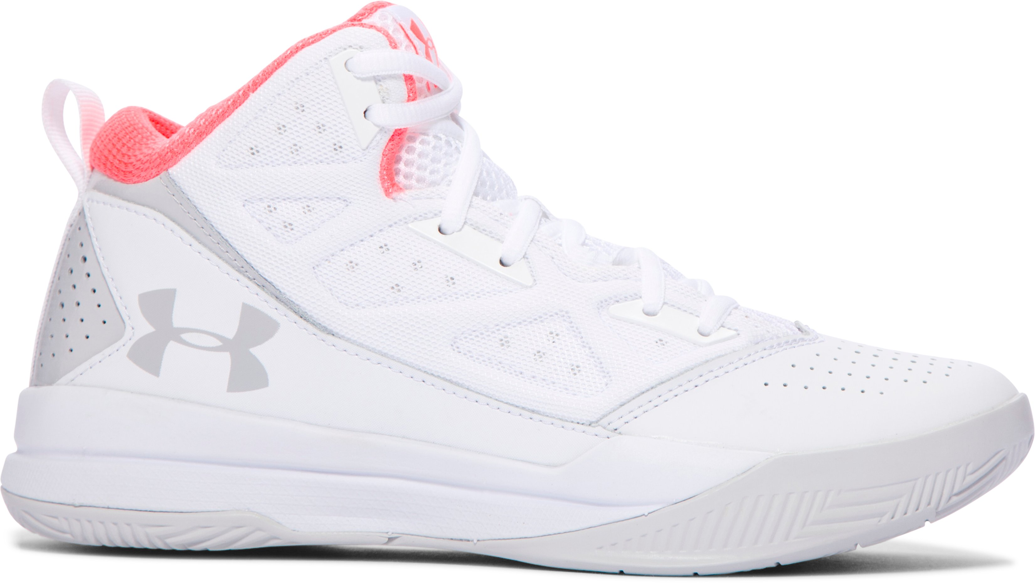Women's UA Jet Mid Basketball Shoes, White