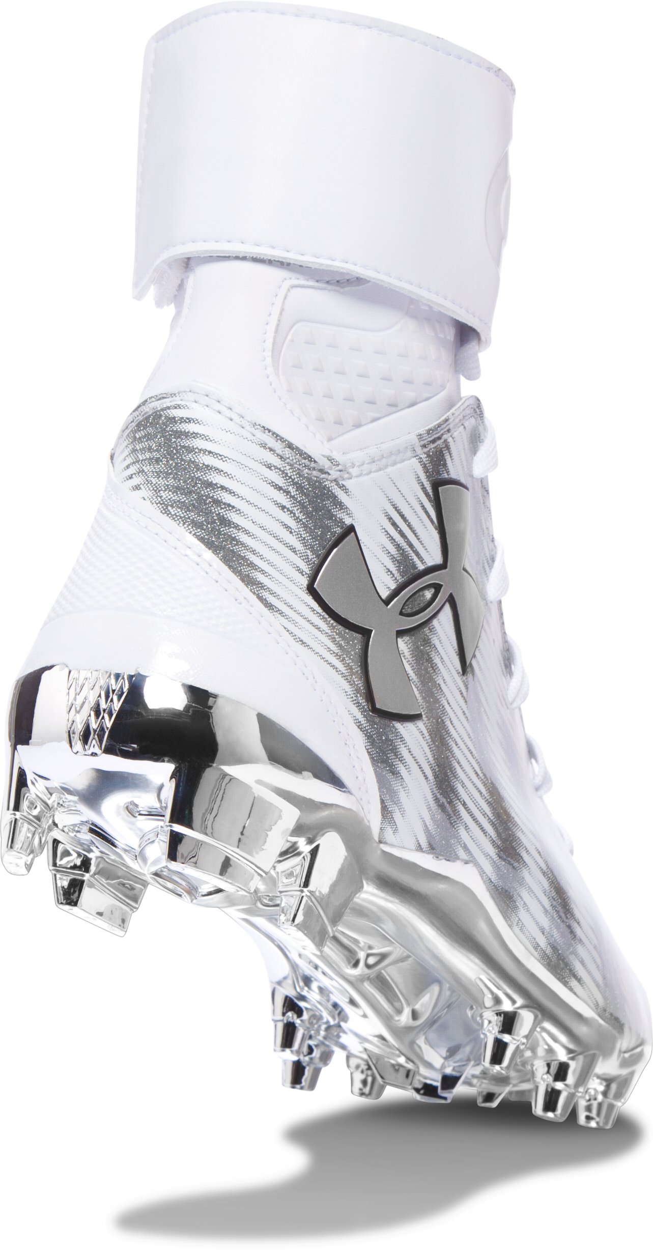Men's UA C1N MC Football Cleats, Metallic Silver,