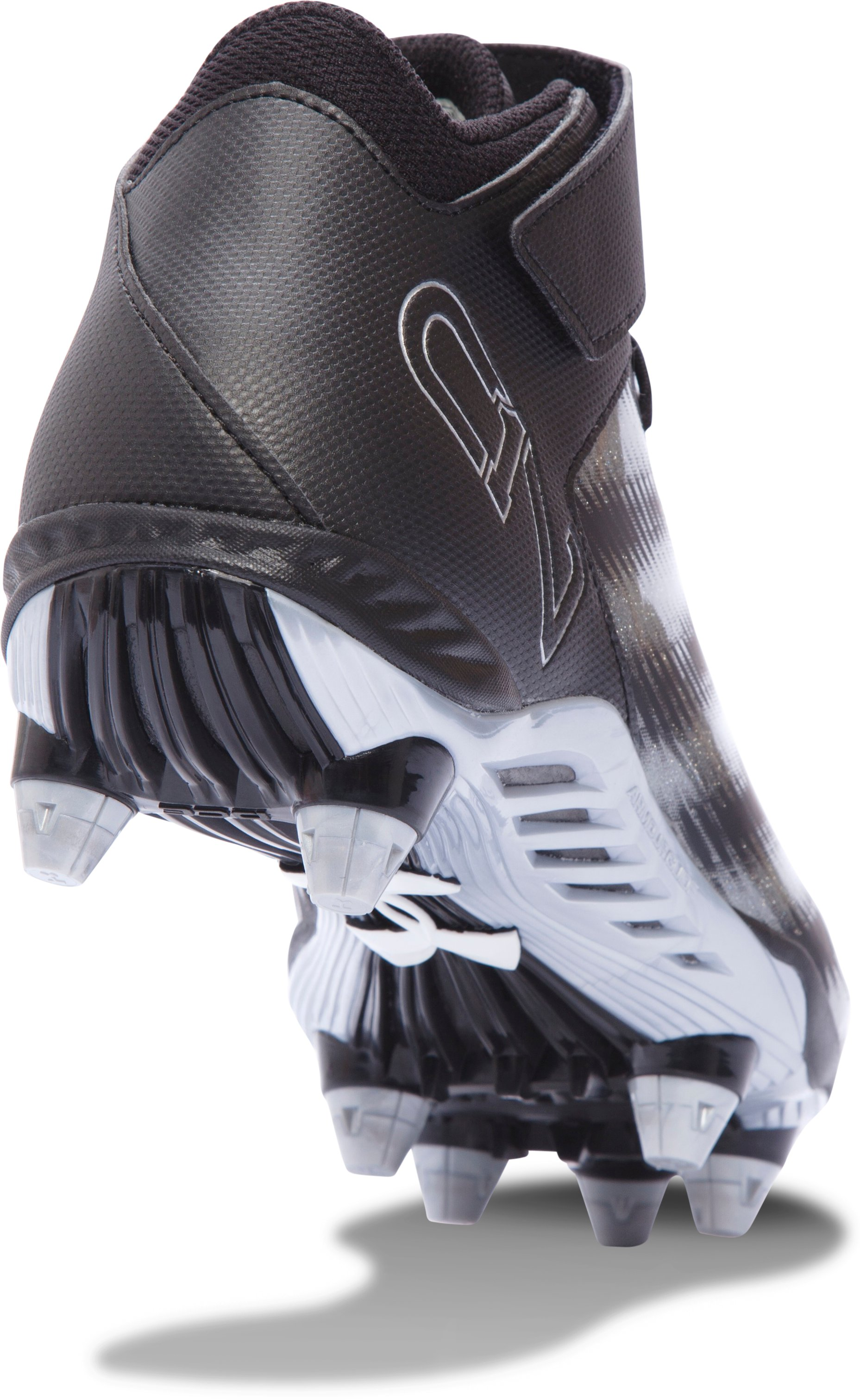 Men's UA C1N Mid D Football Cleats, Black , undefined