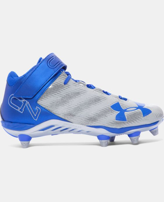Men's UA C1N Mid D Football Cleats  2 Colors $74.99