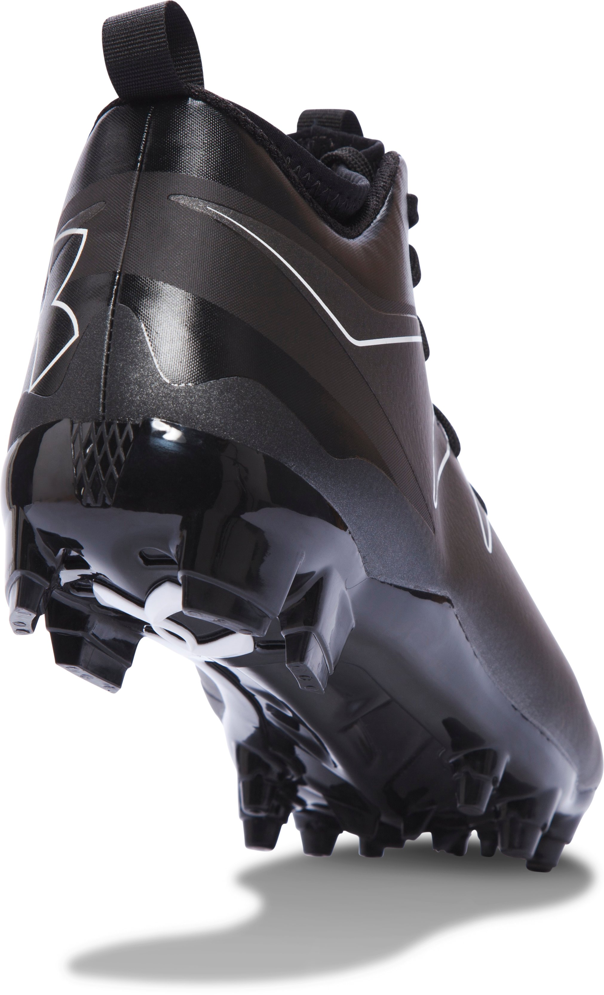 Men's UA Nitro Mid MC Football Cleats, Black ,