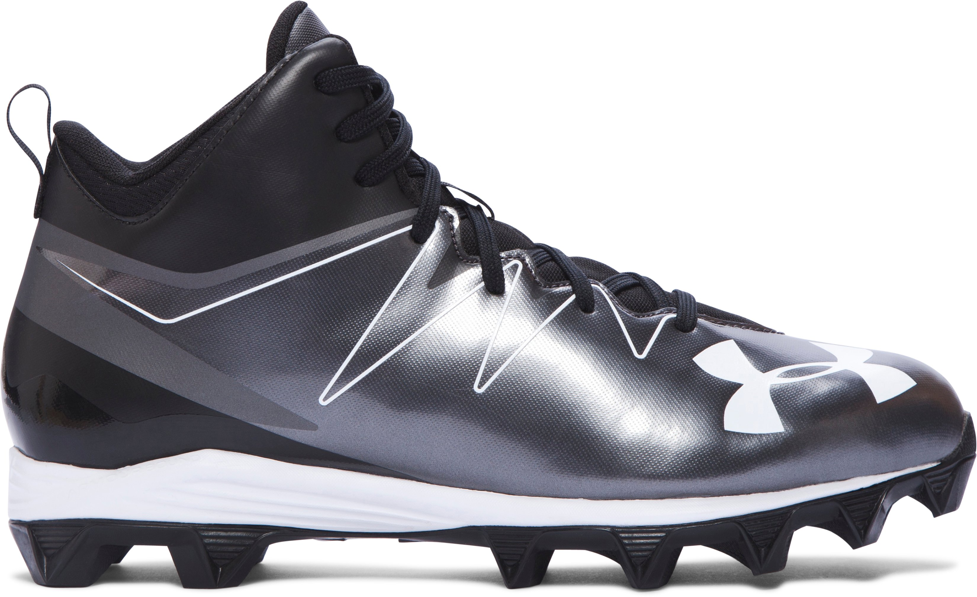 Men's UA Hammer Mid RM Football Cleats, Black , zoomed image