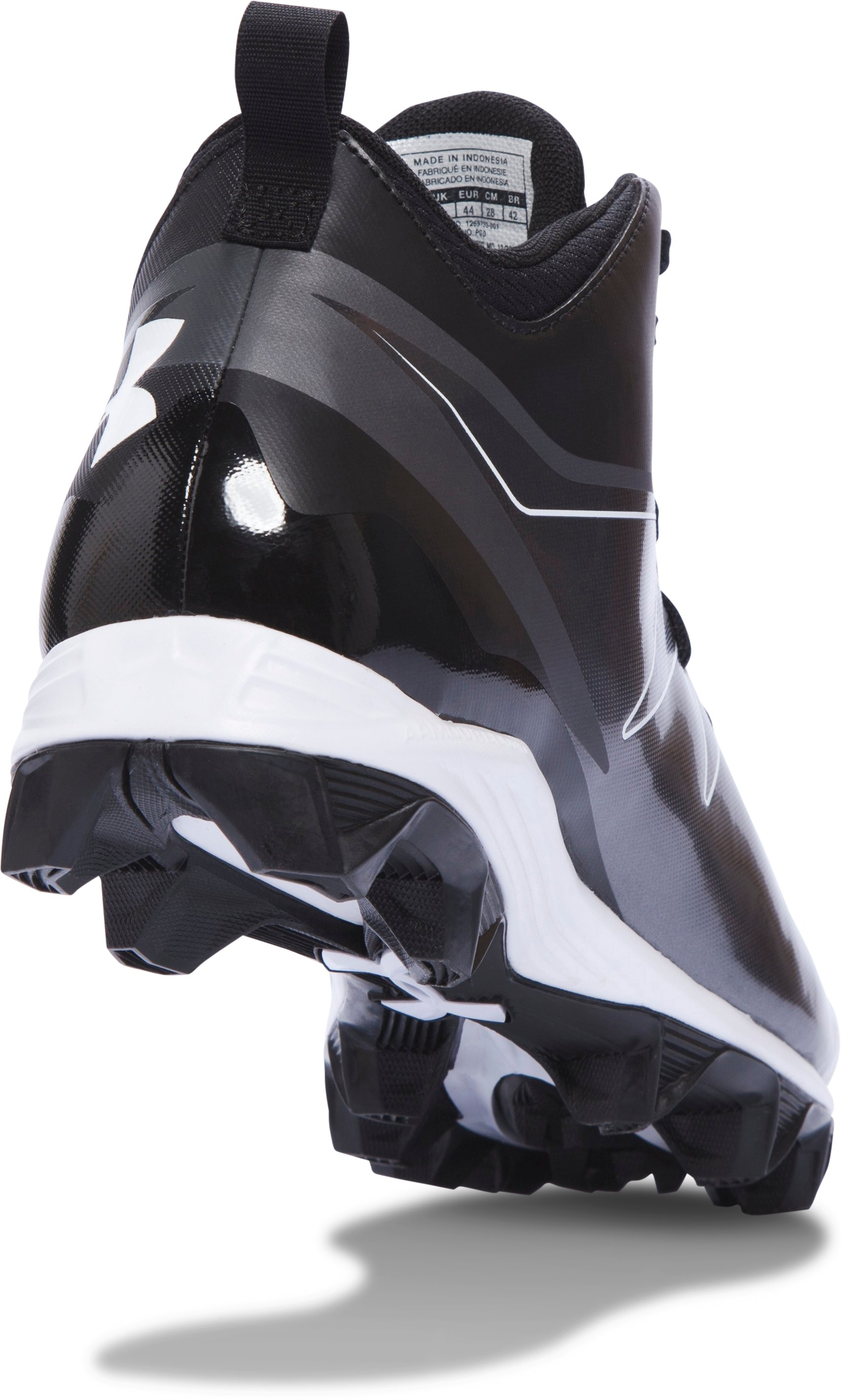 Men's UA Hammer Mid RM Football Cleats, Black , undefined