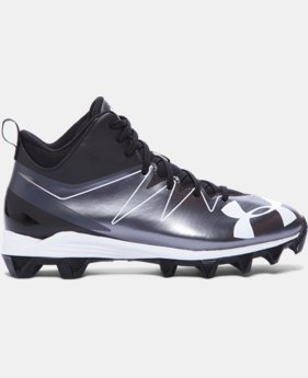 Boys' UA Hammer Mid RM Jr. Football Cleats