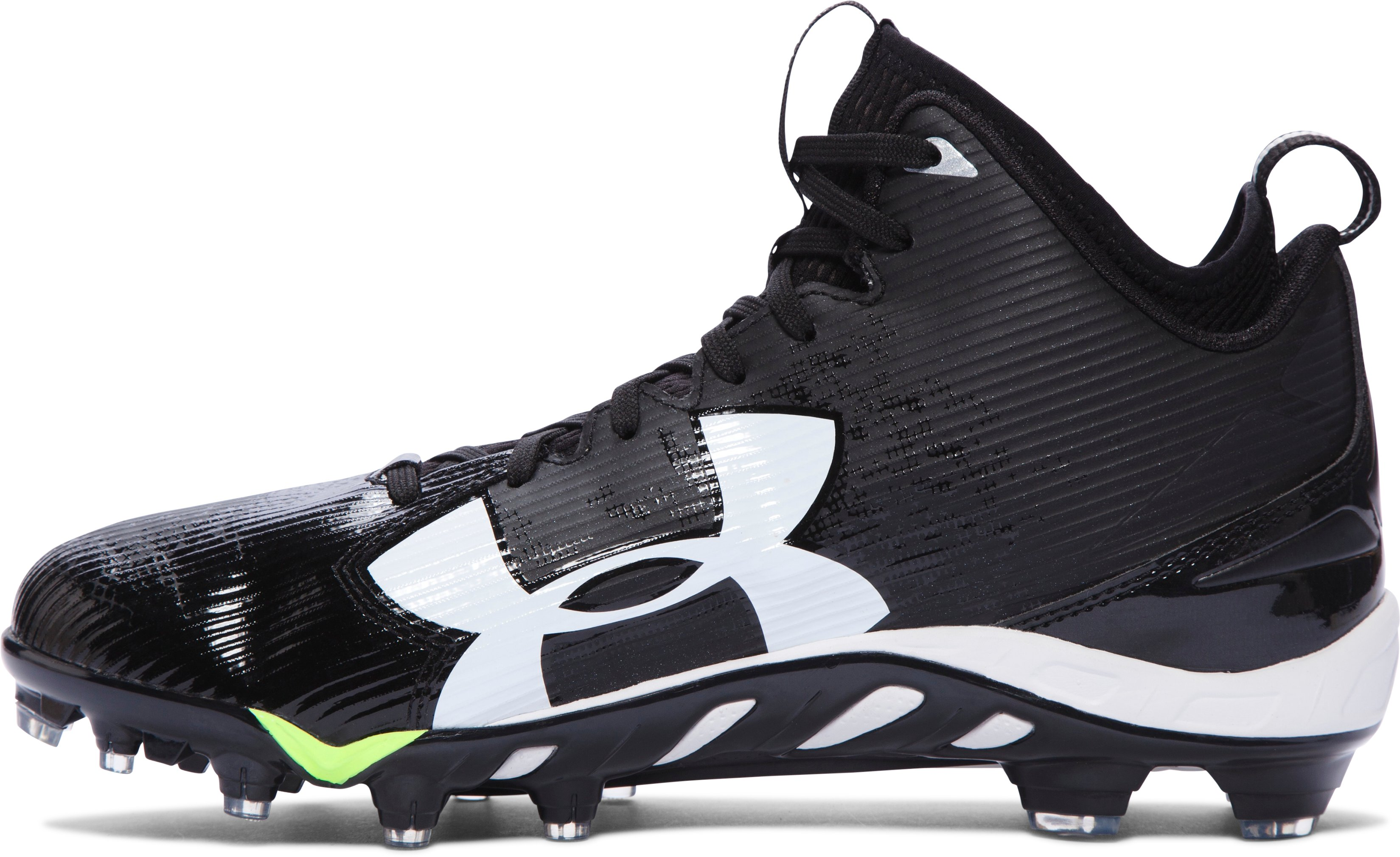 Men's UA Spine™ Fierce MC Football Cleats, Black , undefined