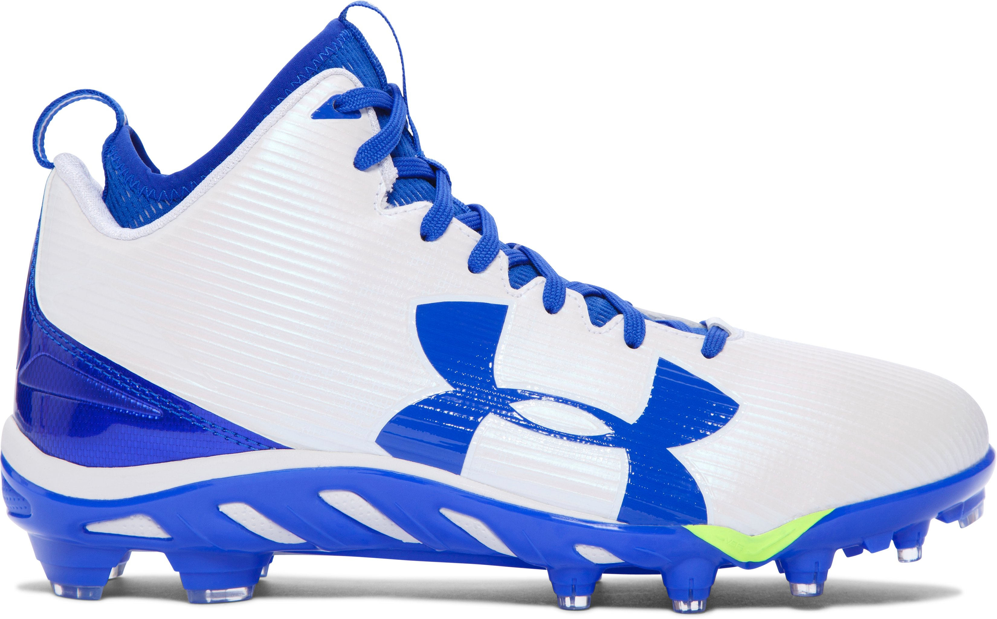 Men's UA Spine™ Fierce MC Football Cleats, White, zoomed image