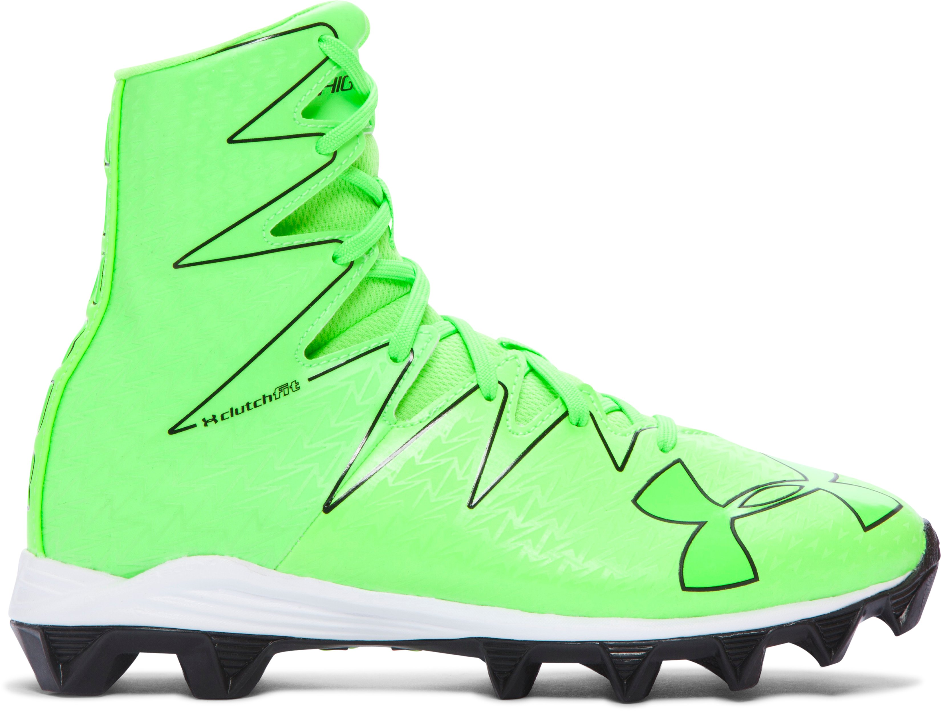 Boys' UA Highlight RM Jr. Football Cleats – Limited Edition, HYPER GREEN, zoomed image