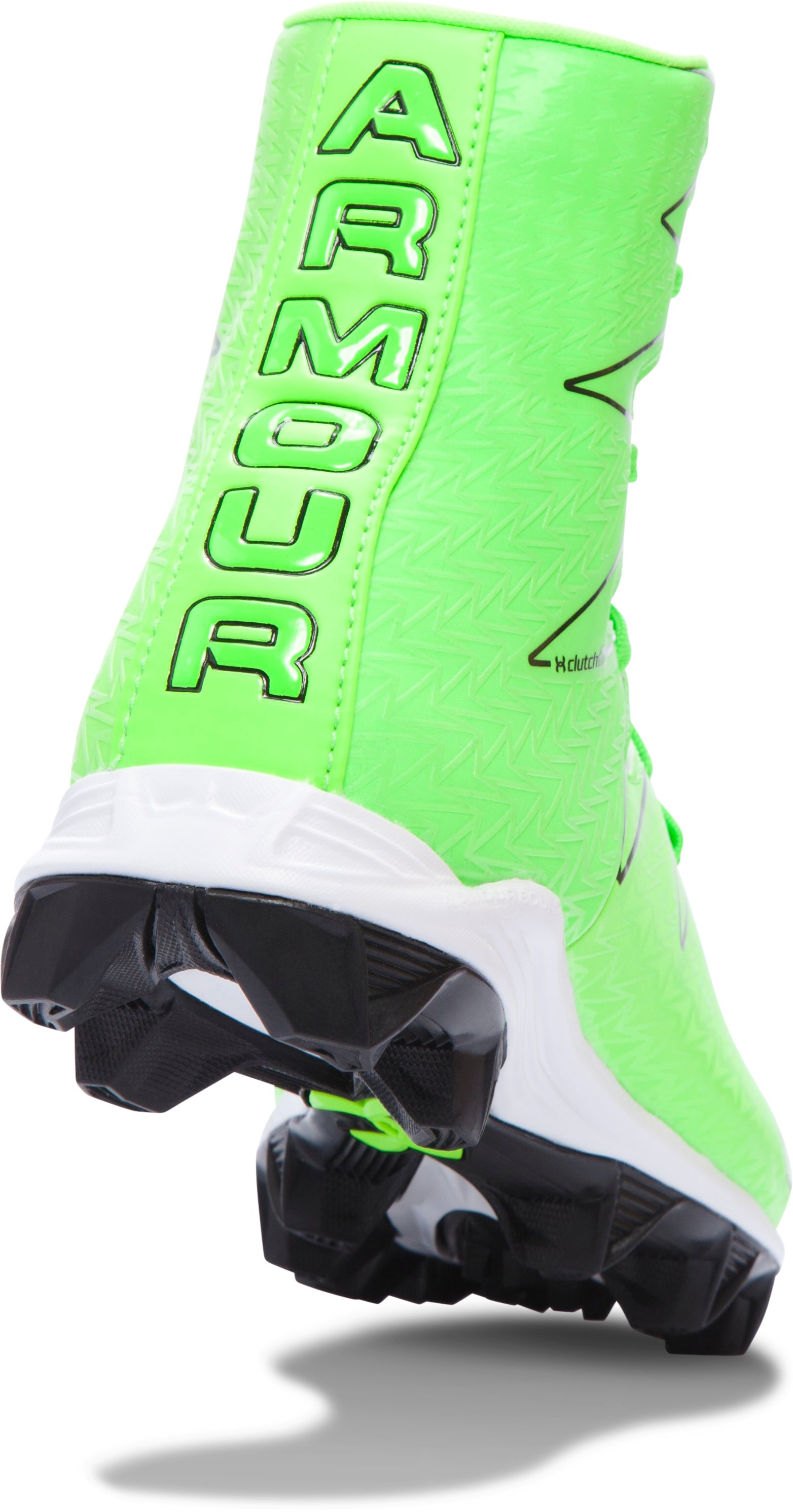 Boys' UA Highlight RM Jr. Football Cleats — Limited Edition, HYPER GREEN, undefined