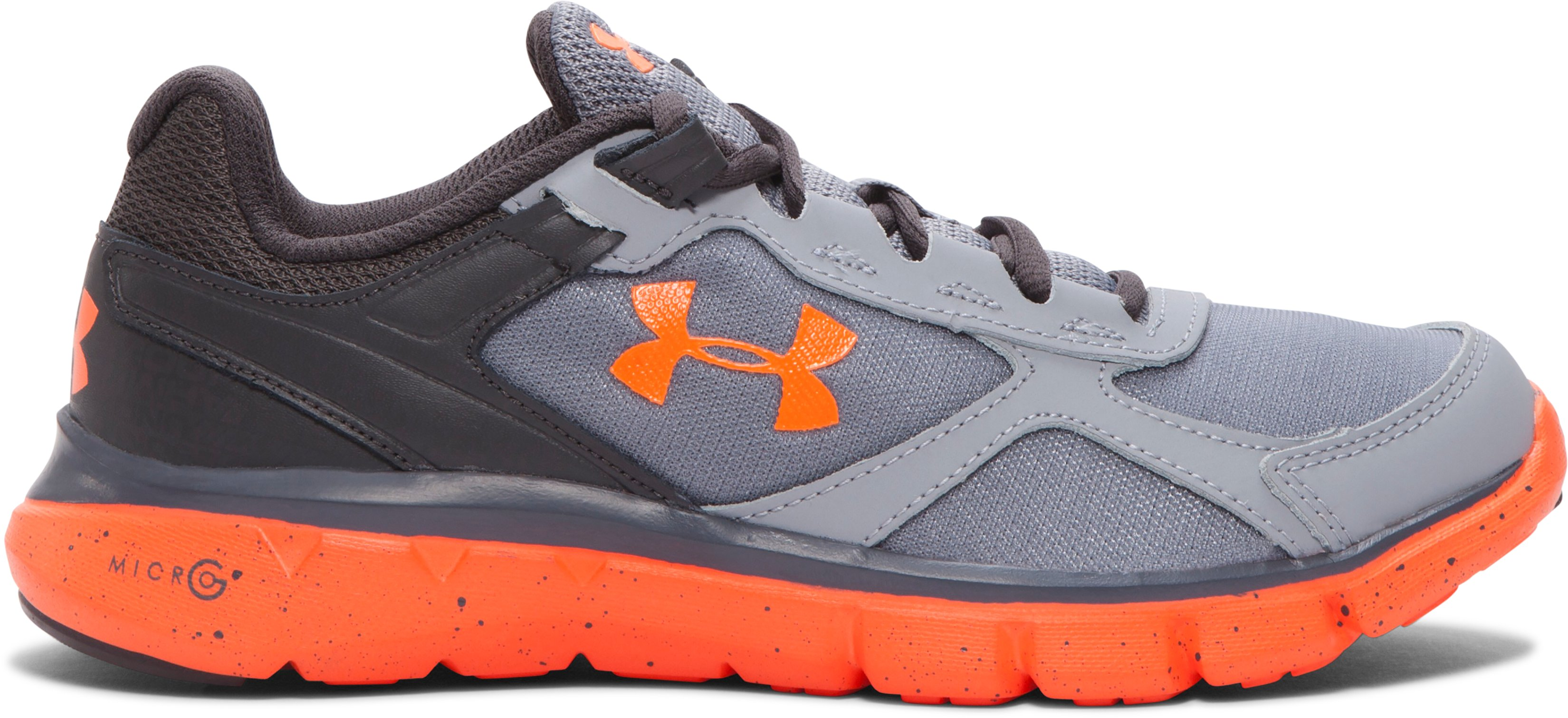 Boys' Grade School UA Velocity Running Shoes, Steel, undefined