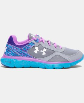 Girls' Grade School UA Velocity Graphic Running Shoes