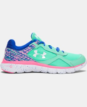 Girls' Grade School UA Velocity Graphic Running Shoes   $48.99