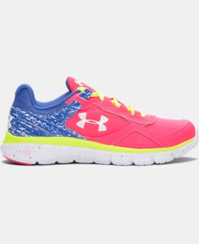 Girls' Grade School UA Velocity Graphic Running Shoes  1 Color $64.99
