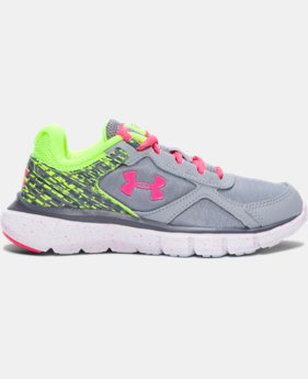 Girls' Pre-School UA Micro G® Velocity Graphic Running Shoes  1 Color $54.99
