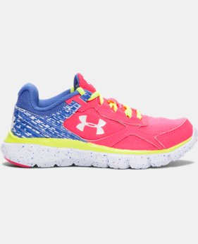 Girls' Pre-School UA Micro G® Velocity Graphic Running Shoes  1 Color $41.99