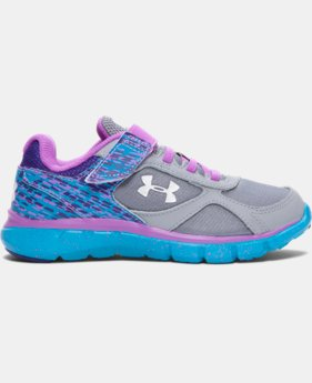Girls' Pre-School UA Velocity Graphic AC Running Shoes   $41.99
