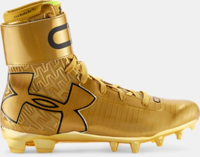 Men S Ua C1n Mc Gold Rush Football Cleats Under Armour Us