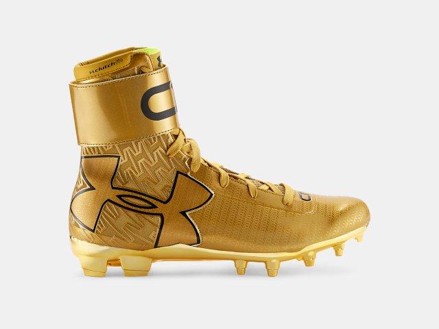 5726cfb0034ab Men s UA C1N MC Gold Rush Football Cleats
