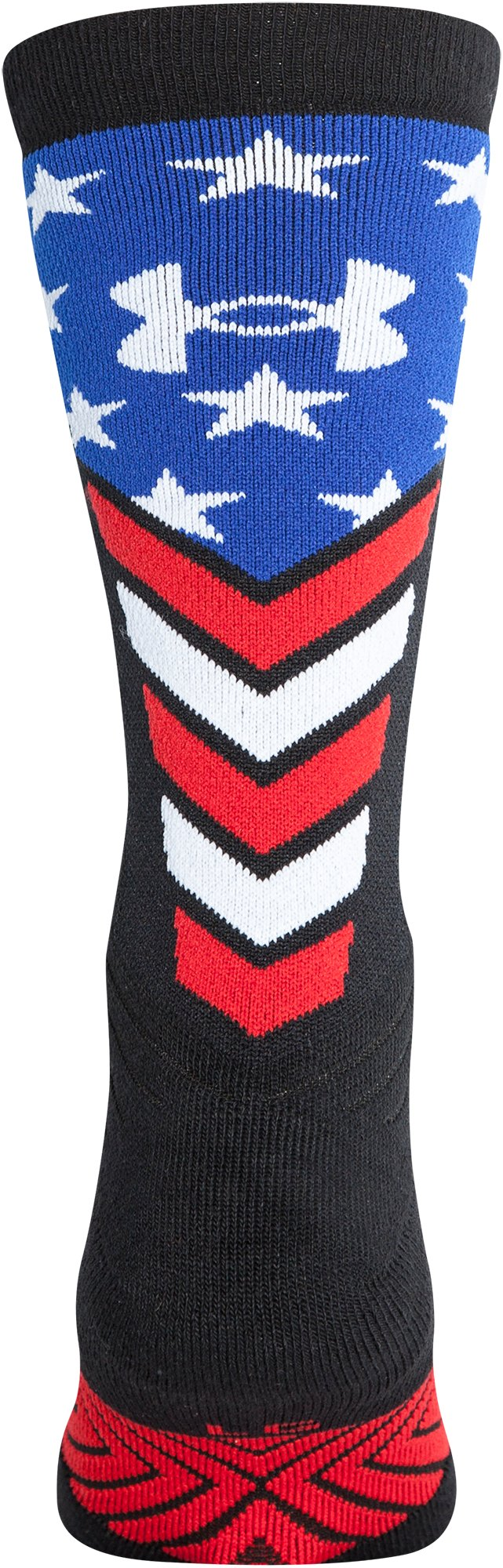 Men's UA Undeniable Crew Stars & Stripes Socks, Black ,