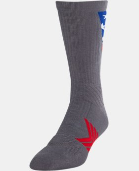 Men's UA Undeniable Crew Stars & Stripes Socks