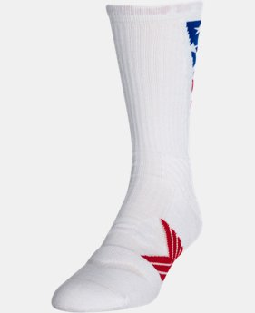 Men's UA Undeniable Crew Stars & Stripes Socks  1 Color $16.99