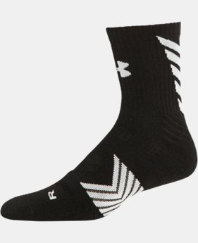 Boys' UA Undeniable Mid Crew Socks