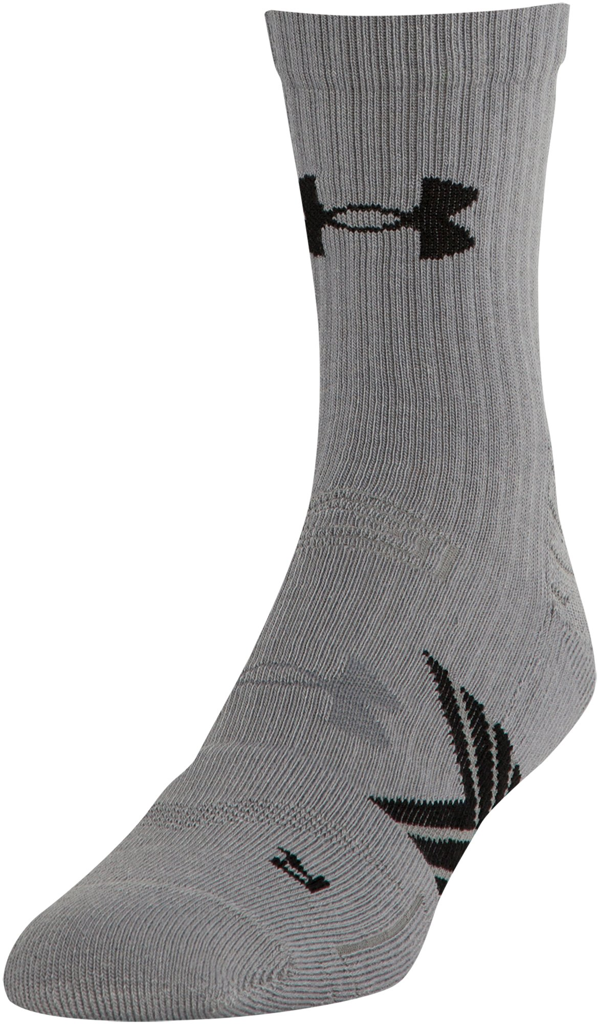 Boys' UA Undeniable Mid Crew Socks, Steel