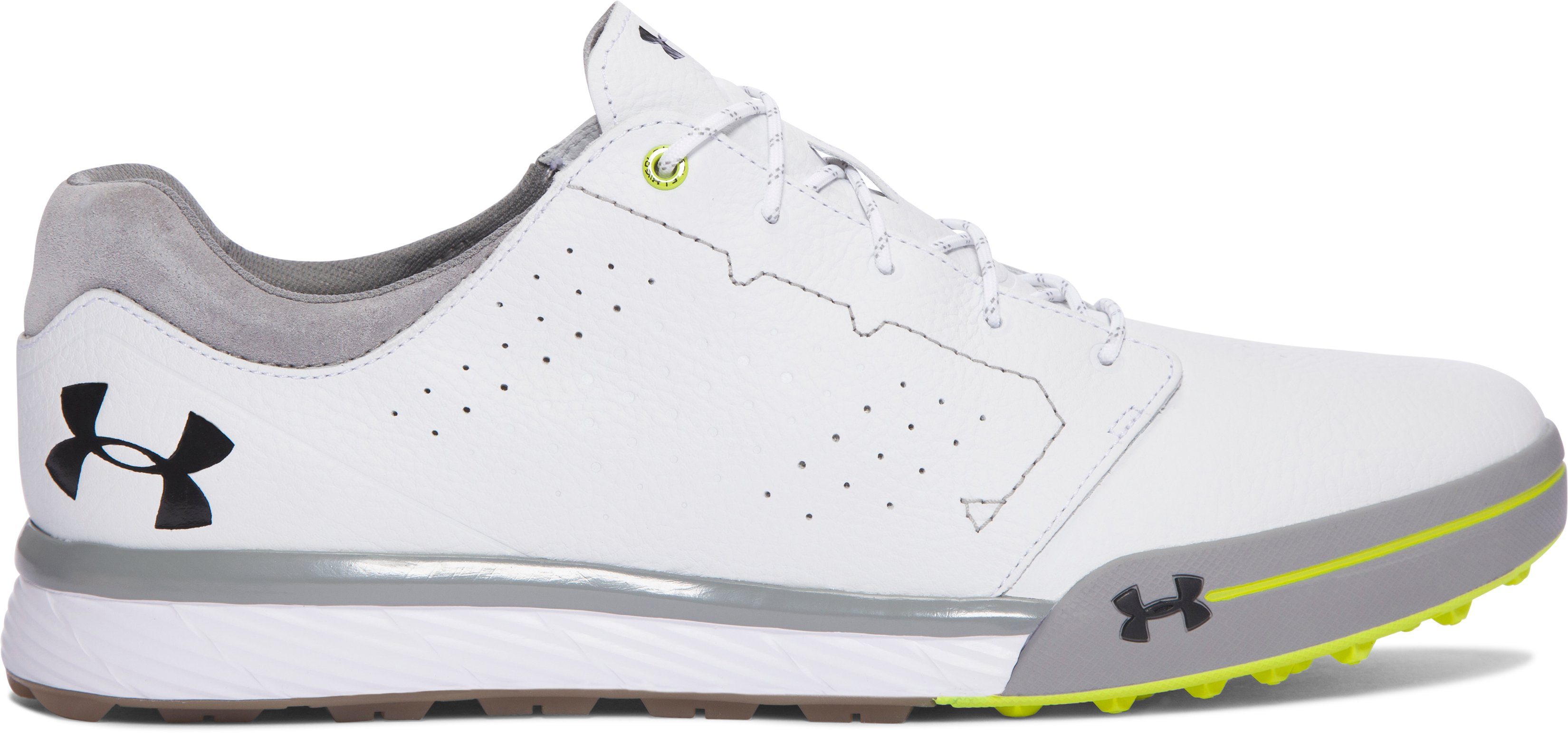 Men's UA Tempo Hybrid Golf Shoes, White, undefined