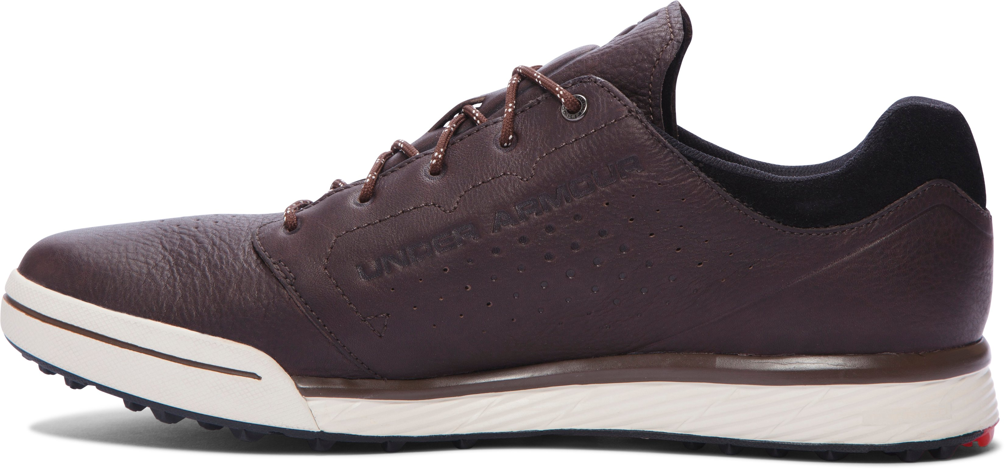 Men's UA Tempo Hybrid Golf Shoes, Cleveland Brown, undefined