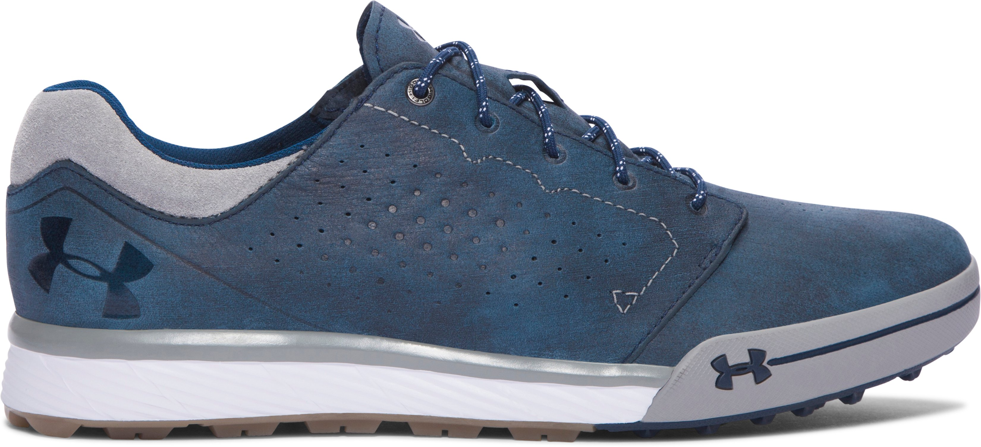 academy shoes Men's UA Tempo Hybrid Golf Shoes It has the same technology as the tempo tour just without spikes....Great Product...Overall fantastic shoe, received in less then 40 hours!