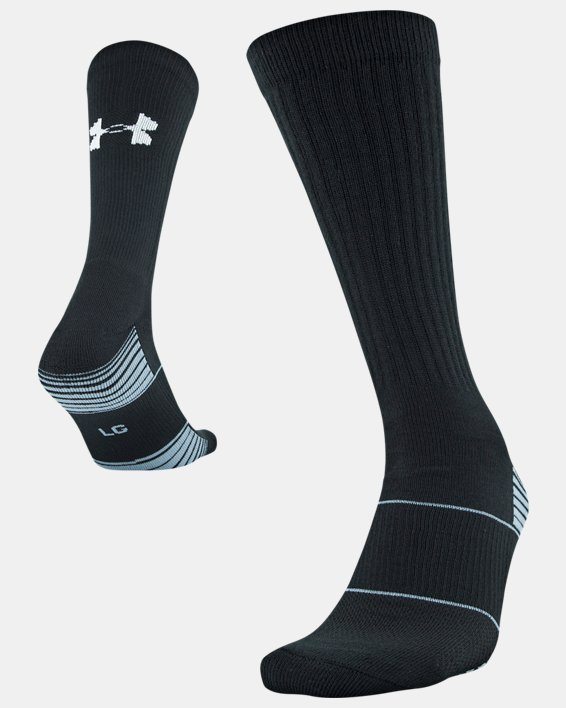 UA Team Crew Socks, Black, pdpMainDesktop image number 4