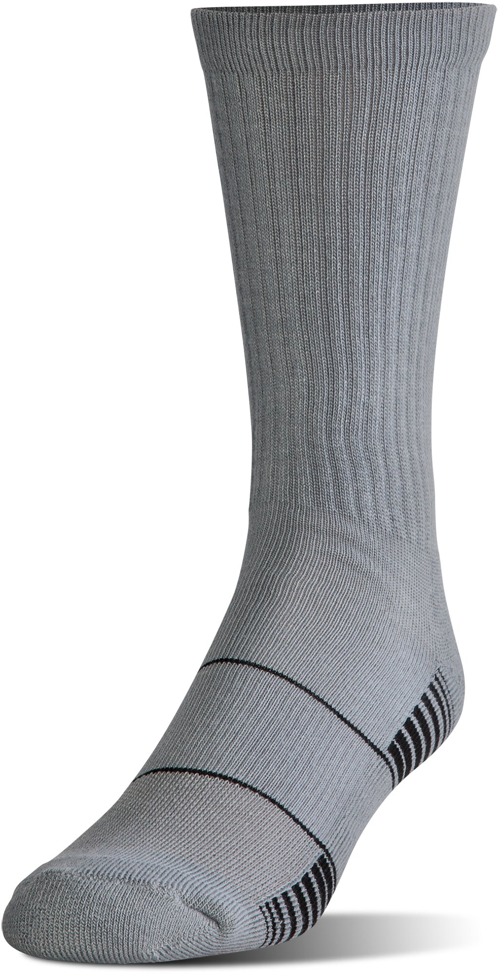 Men's UA Team Crew Socks, Graphite, undefined