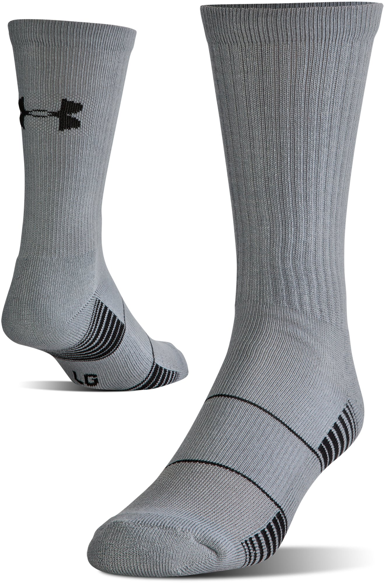 UA Team Crew Socks, Graphite,