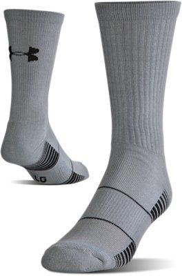 Captivating UA Team Crew Socks, Graphite
