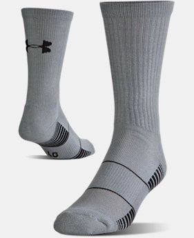 Best Seller Men's UA Team Crew Socks  2 Colors $10