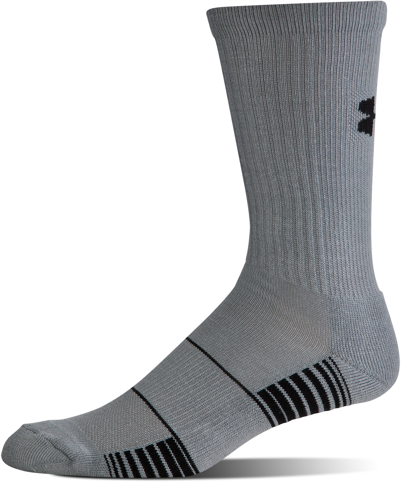 UA Team Crew Socks, Graphite, undefined