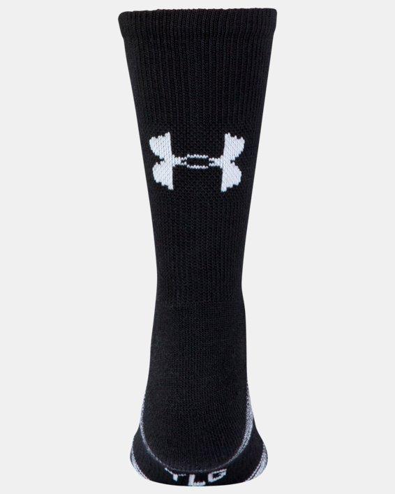 Kids' UA Team Crew Socks, Black, pdpMainDesktop image number 1