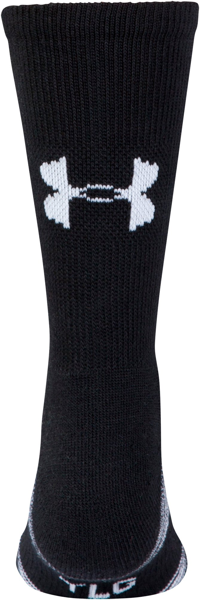 Kids' UA Team Crew Socks, Black