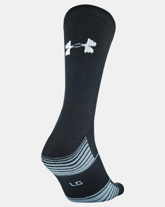 Kids' UA Team Crew Socks, Black, pdpMainDesktop image number 2