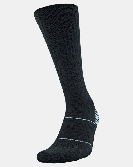 Kids' UA Team Crew Socks, Black, pdpMainDesktop image number 0