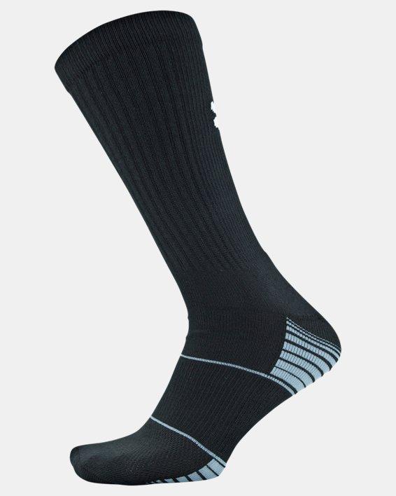 Kids' UA Team Crew Socks, Black, pdpMainDesktop image number 3