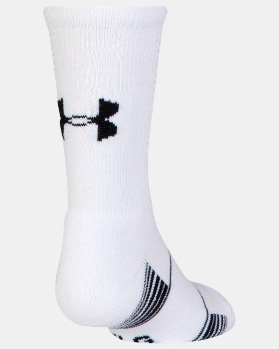 Kids' UA Team Crew Socks, White, pdpMainDesktop image number 2