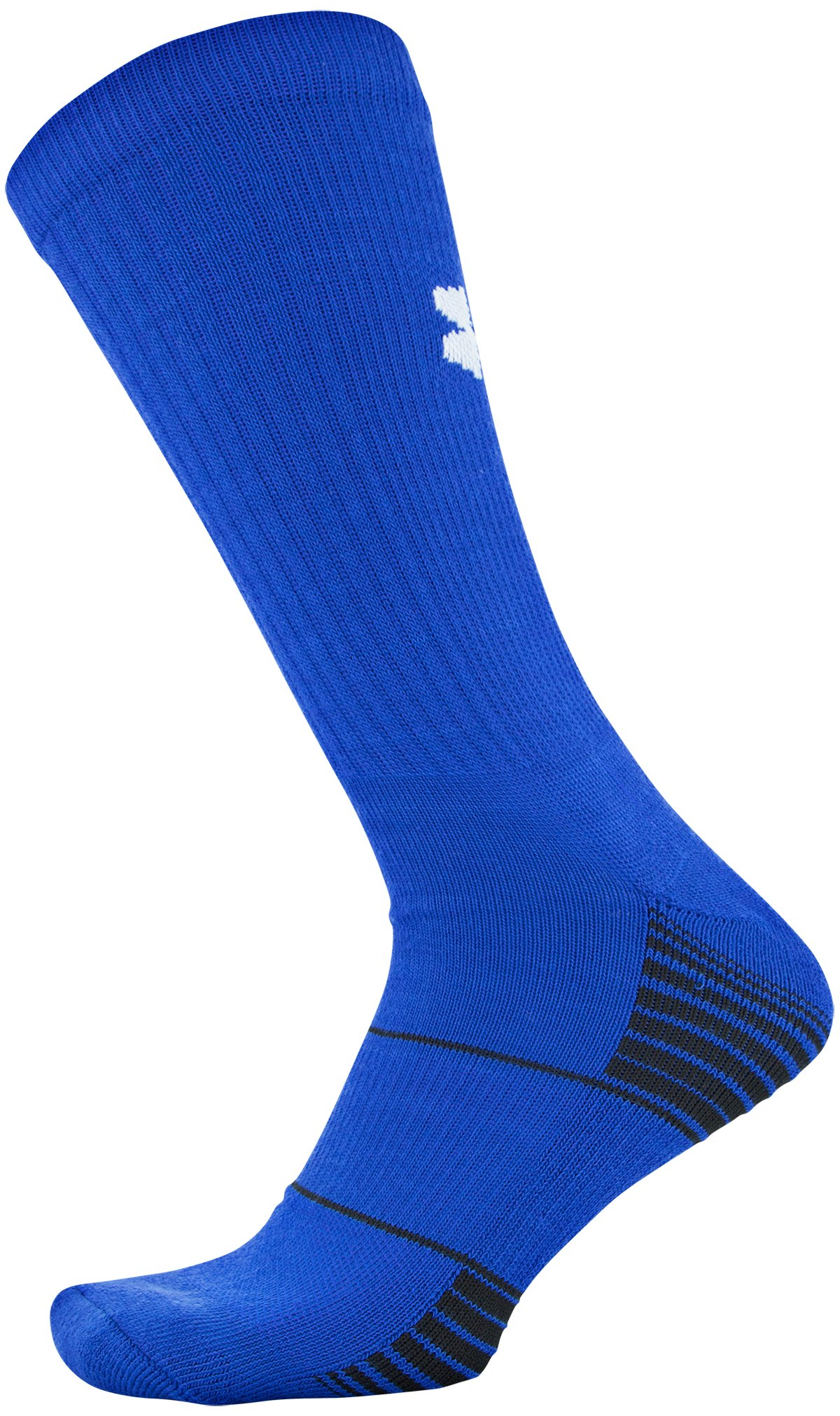 Kids' UA Team Crew Socks, Royal, zoomed image
